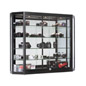 Wall Mounted LED Display Cabinet, Tempered Glass Shelves