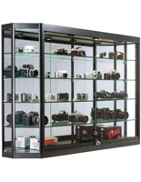 Illuminated Wall Display Cabinet, 30lb. Max Capacity
