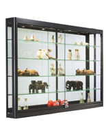 LED Wall Showcase Cabinet, Mirrored Backing