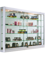 Wall Mounted Display Cabinet with LED Lights, Z-bar Mounting