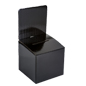 Black Cardboard Entry Box with Slanted Top