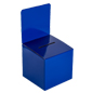 Blue Cardboard Entry Box with Slanted Top