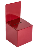 Red Cardboard Entry Box for Countertop