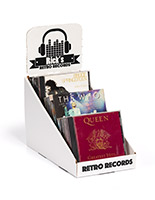 Custom 3-tier cardboard counter display stand for CDs