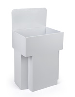 White Display Bins