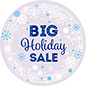 "24"" x 24"" seasonal window cling with winter theme"