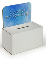 Full-color custom cardboard enter to win box