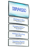 Office Building Directory Signs with 4 Snap-Out Lens Name Plates