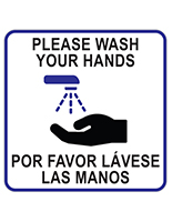 Bilingual handwashing sign cling with uv printing