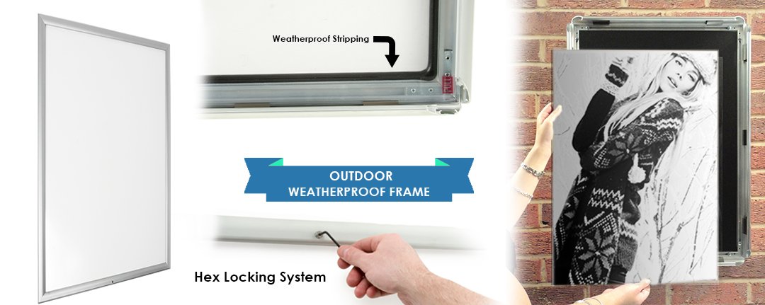 "Waterproof Snap Frame | 22"" x 28"" with Locking Feature"