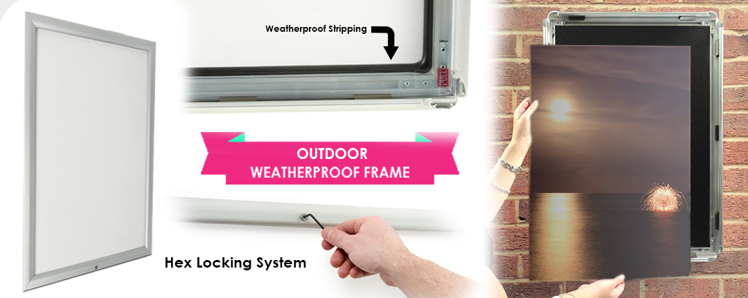 "Outdoor Snap Frame | 24"" x 36"" with Locking Feature"