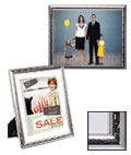 Silver Photo Frame Comes With Decorative Profile