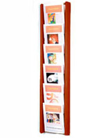 6 pocket magazine rack wall mount for standard issue periodicals