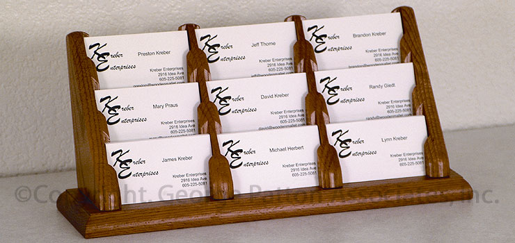 Wooden multiple business card holders 9 pocket desk design business card organizers colourmoves