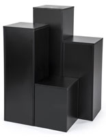 Black Collapsible Display Cubes