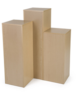 "12.5"" Square Laminate Display Pedestals"