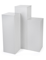 Square Display Pedestal Set with Collapsible Design