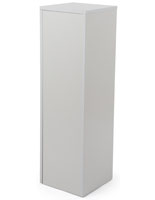 Laminated White Pedestal Stand