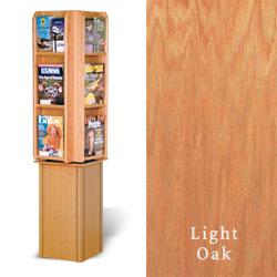Wood Magazine Tower Rotating W 24 Pockets