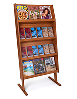 four shelf magazine holders