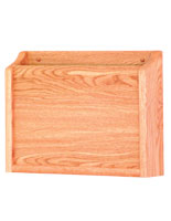 Single pocket HIPAA wood wall file holder in light oak finish