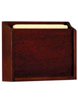 HIPAA-compliant red Mahogany wooden wall medical chart holder