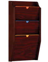 Mahogany Wall File Holder