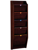 Mahogany 5 Pocket Privacy Chart Holder