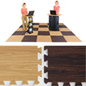 Light & Dark Wood Interlocking Floor Mats