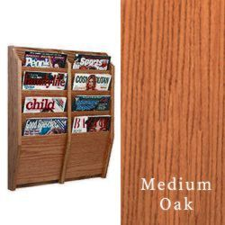 4-tiered vertical magazine wall display racks with included mounting hardware