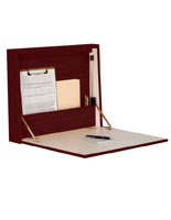 Dark Red Mahogany Wall Mounted Folding Desk