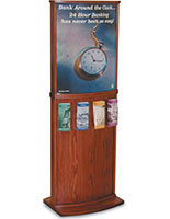 Sign Stand with 4-Pocket Brochure Holder
