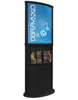 Black Wooden Poster Display Stand with Rounded Design