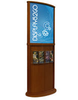 Cherry Poster Stand, Curved Design