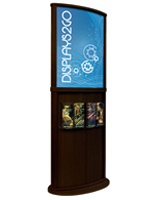 Walnut Poster Stand, Double Sided