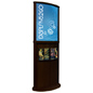 Walnut Poster Stand with Top Insert Slot