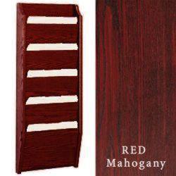 Wood File Organizers W 5 Pockets Amp Red Mahogany Finish