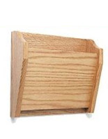 Light oak finish wooden 1 pocket file folder wall rack