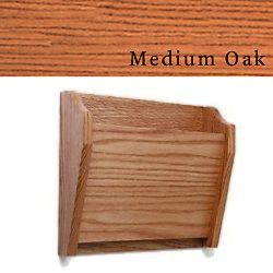 Wood Wall File Pocket In Medium Oak Features Single Pocket