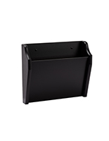 Black single pocket wooden wall file holder