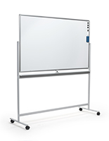 Dry-wipe whiteboard on wheels