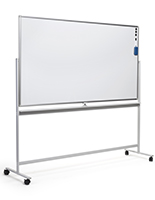72 x 40 dry-wipe whiteboard with wheels