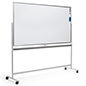 Freestanding whiteboard with wheels