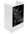 Register Stand with Custom Graphics & Silver Standoffs