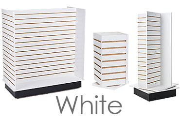 White Slatwall Displays