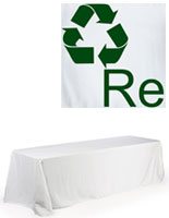 white polyester table cover