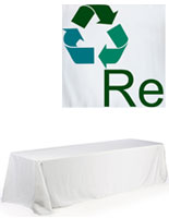 white polyester promotional tablecloth