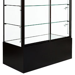 raised base rectangular showcases