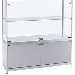 wide showcases with storage