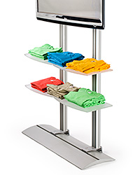 widescreen LCD TV monitor stand with four acrylic shelves
